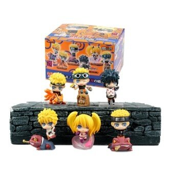 6CM CUTE 6pcs/set Naruto Uzumaki Naruto Orochimaru Uchiha Sasuke Hatake Kakashi Mini PVC Action Figures Toys Dolls - intl