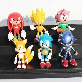 6 Pcs 3 Inch Sega Landak Sonik Figure Pvc Mainan Soniccharactersfigure Mainan Boneka Brinquedos-Intl