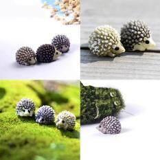 6pcs Mini Miniature Animal Small Hedgehog Micro Landscape Dollhouse Resin Diy Garden Ornament