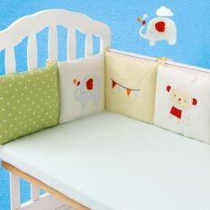 6pcs Popular Crib Bumper Protective Baby Nursery Bedding Comfy Infant Cot Pad By Five Star Store.