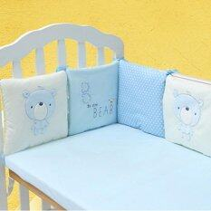 6pcs Popular Crib Bumper Protective Baby Nursery Bedding Comfy Infant Cot Pad By Teamwin.