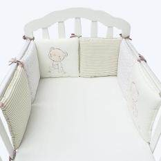 6pcs/set Baby Crib Bed Bumper Cushion Fence Cover Cotton Baby Protector Safety By Bokeda Store.