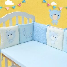 6pcs/set Comfortable Baby Crib Cotton Bumper Bed Protector Nursery Care By Simida Limited.