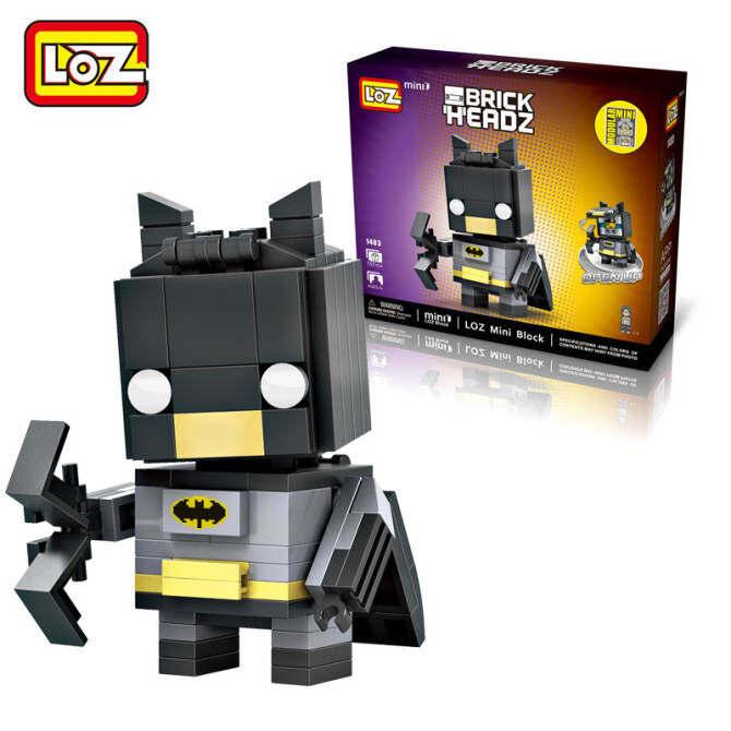 6PCS/SET LOZ Mini Blocks Brick Heads Figure Building Blocks toys Children Intelligence Models Building Christmas Quiz Toys For Children DIY 1403 (Batman+Batwoman+Robin+Harley Quinn+Joker+Poison Ivy) - intl