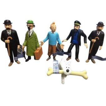 Rp 775.000 6pcs/set The Adventures of Tintin PVC Action Figures Collectible Model Toys ...