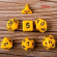 7pcs Polyhedral Acrylic Dungeons Dragons Dice Multiple Sides Role Playing Games Gold 16mm-25.5mm