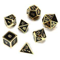 7pcs Zinc Alloy Polyhedral Side Dice Role Play Game Dice Diy Antique Nickel By Audew.