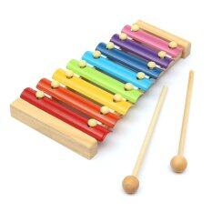 8 Notes Musical Xylophone Piano Wooden Instrument Kids Education Baby Child Toy By Freebang.