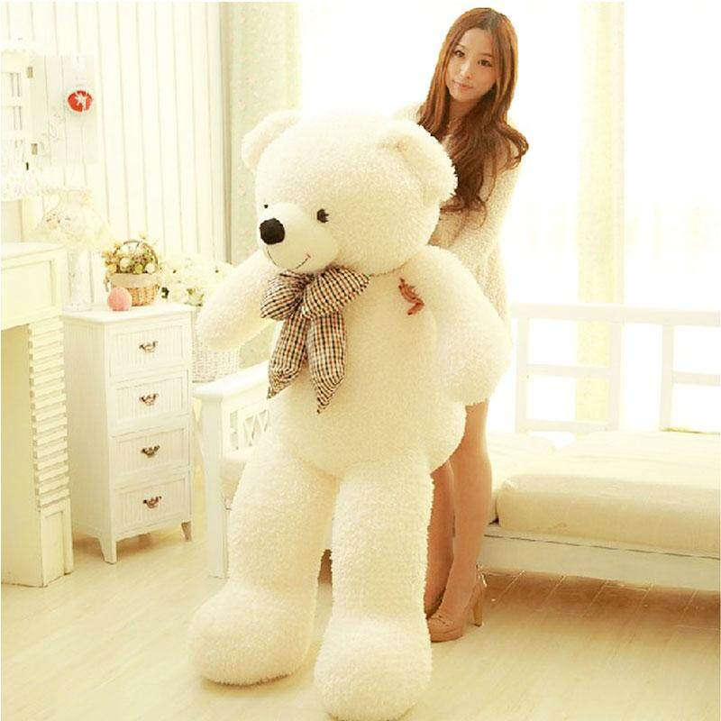 80CM Giant Big Cute Plush Stuffed Teddy White Bear Huge Soft 100% Cotton Toy Best Gift