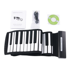 88 Keys Usb Electronic Midi Roll Up Piano With Flexible Silicone Keyboard By Wholesaleshop.