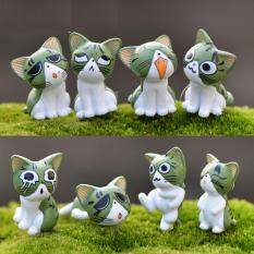 6pcs 1 6inch Cheese Cat Miniature Figurines Toys Cute Lovely Model