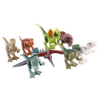 8pcs/lot Dinosaurs Jurassic Park World Mini Figure Building BlocksToys