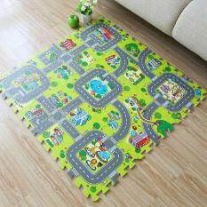 9pcs Baby EVA foam puzzle play floor mat,Education and interlocking tiles and traffic route ground pad