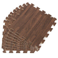 9pcs Wood Interlock Eva Foam Floor Puzzle Pad Work Gym Mat Kid Safety Play Rug By Freebang.