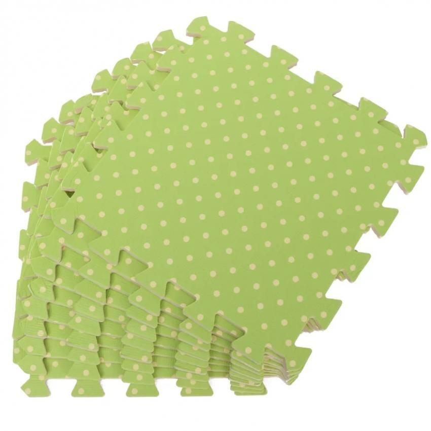 Hình ảnh 9PCS Wood Interlock EVA Foam Floor Puzzle Pad Work Gym Mat Kid Safety Play Rug(Green) - intl