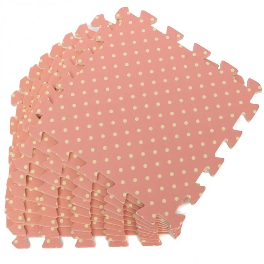 Hình ảnh 9PCS Wood Interlock EVA Foam Floor Puzzle Pad Work Gym Mat Kid Safety Play Rug(Pink) - intl