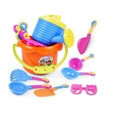 9 Pcs/set Pantai Mainan Pasir Alat Spade Sekop Mainan Biji-bijian untuk Anak Bayi Grosir Multicolor
