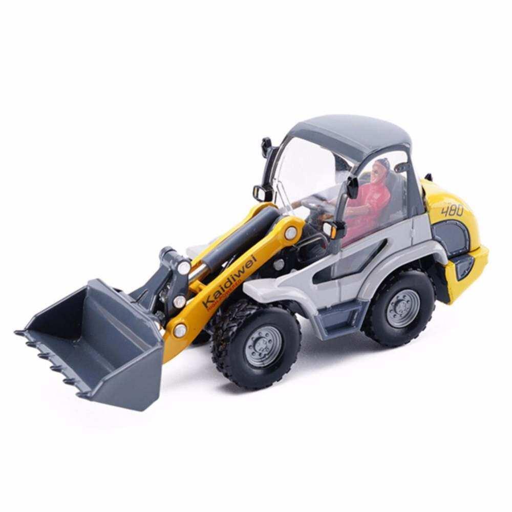 Huremwp Paduan Excavator 1:50 Forklift Bulldozer Sekop Belakang Sekop Anak Hadiah Model Loader untuk