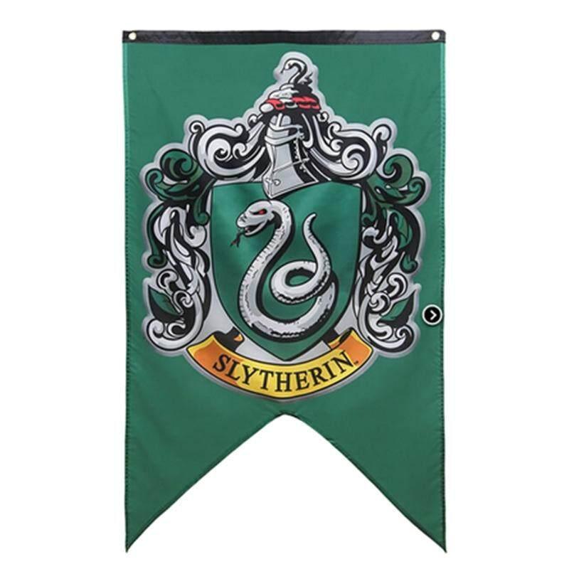 Arktik Land Seksi Baru Potter Rumah Hogwarts Sekolah Empat Rumah Puncak Banner Dekoratif Bendera-Internasional