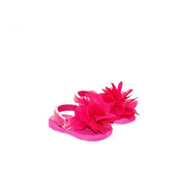 Arianna Fits American Girl 18 inch Doll - Pink Peony Glitter Flower Sandal - 18 inch Doll Shoes - Boutique Quality Shes Worth it! - Designed In USA Fit 18 Inch Dolls - intl