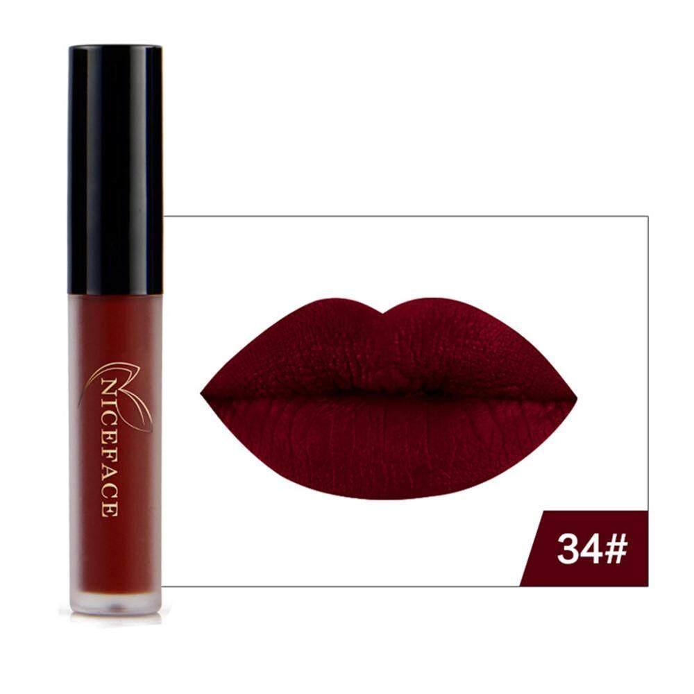 AUkEy Newstyle Bibir Gloss Lipstik Riasan Anti-Air Panjang Abadi Warna  Tidak Mengkilap Kosmetik 9 01d460ce69