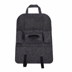 Auto Car Seat Back Multi-Pocket Storage Bag Organizer Holder Accessory Deep Grey - Intl By Magical House.
