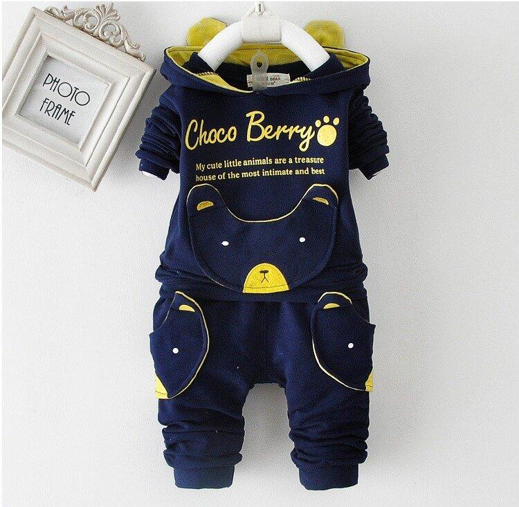 SoonYip Autumn Winter Baby Boys Girls Sweater Clothing Sets Children cotton
