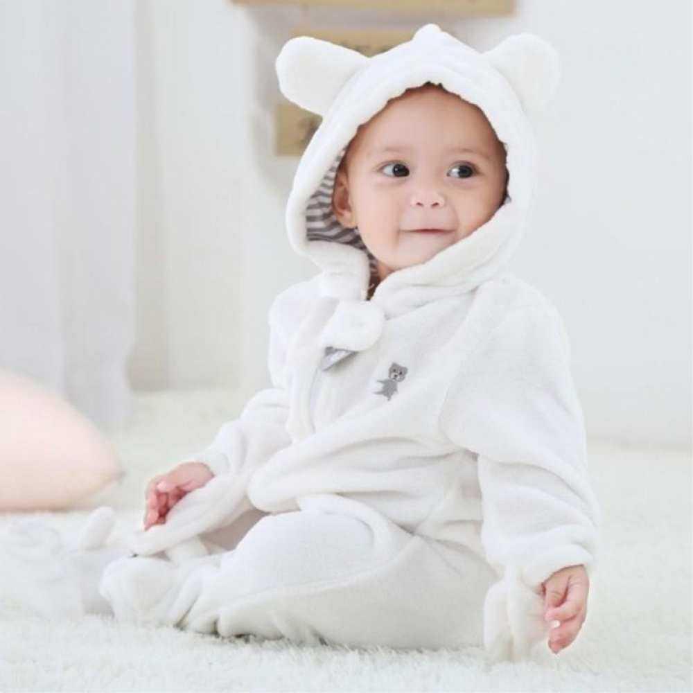 HSGA16RS Musim Gugur Musim Dingin Bulu Karang Baju Terusan Bayi Yang Baru Lahir Lengan Panjang Kaki