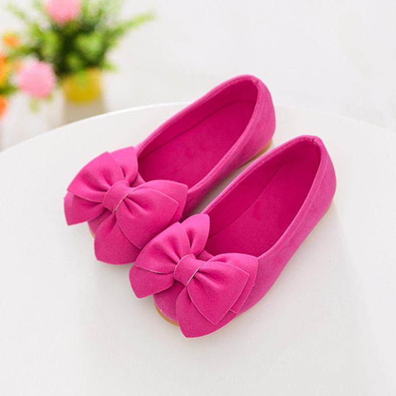 7cdd65f22eff B-F 1 Pair Princess Girls Shoes Bow Flat Shoes Casual Party Flower Shoes (  color