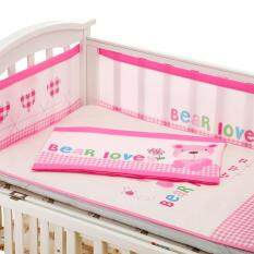 Baby Bed Bumpers Cartoon Print Cradle Bumper 3d Breathable Baby Bedding Set By Open Global.
