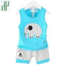 Bayi Laki-laki Pakaian Merek Musim Panas Anak-anak Pakaian Set T-Kemeja + Celana Perapi Hewan Gajah Bayi Pakaian Anak Perempuan Kecil Katun pakaian Set
