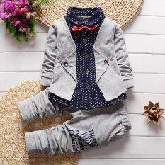 580ef97a3b492 Baby boy clothes spring 2018 formal kids clothes suit 2Pcs boys set baby  born gentleman toddler boy clothes birthday dress