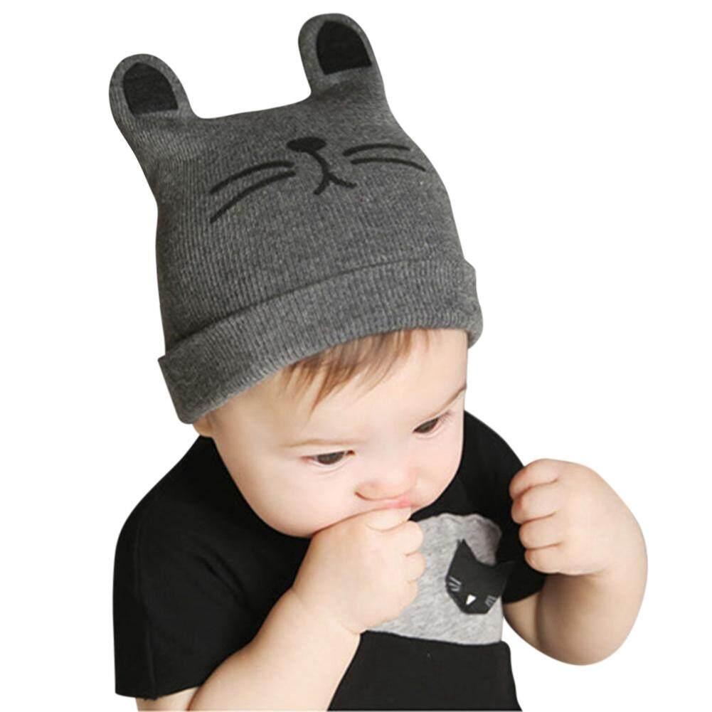 f9cc549bfac99 Baby Boy Girl Winter Warm Hat Toddler Children Cute Cat Ear Knit Beanie Cap  - intl