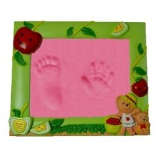 Baby Care Air Drying Soft Clay Baby Handprint Footprint Imprint Kit Casting Parent-Child Hand Inkpad Fingerprint By Funny Face.