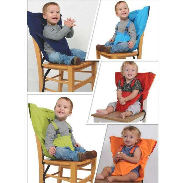 welovestore Baby Chair Portable Safety Brand Infant Seat Belts Belt Folding Dining Feeding Kids Product Dining Lunch Harness for Kid Chair - intl