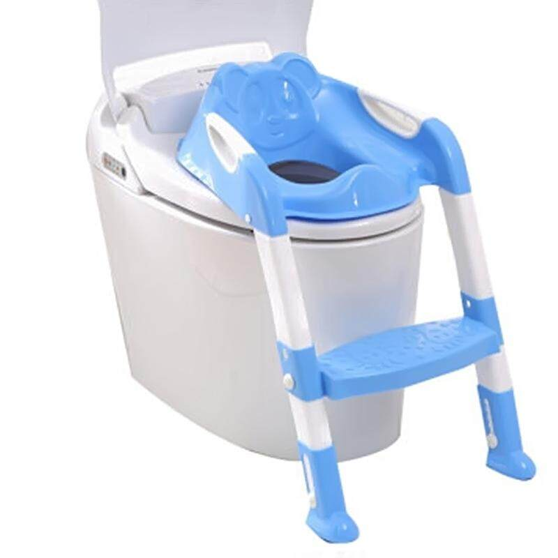 Baby Child Folding Pedestal Pan Nontoxic Potty Training Seat With Ladder - Intl By Bsex.