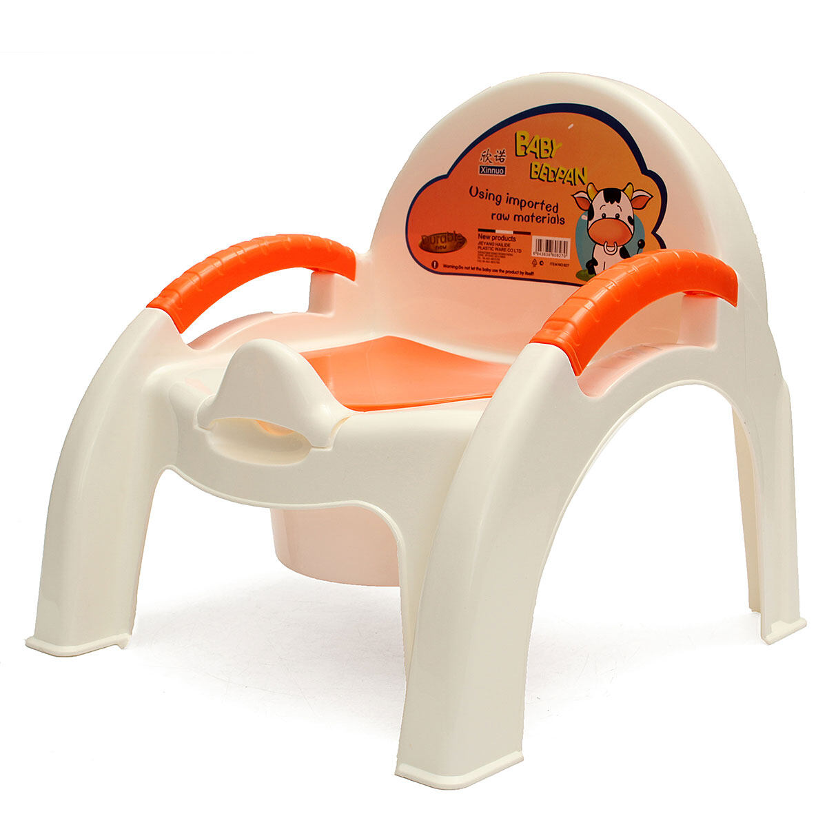 BABY Child Toliet Seat Chair Potty Training Toddler Removable Kids Easy Clean Orange - intl