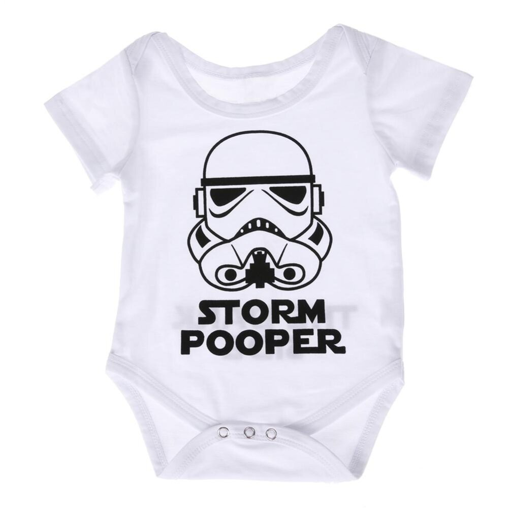 Baby Girl Boy Pakaian Katun Lembut Bodysuit Romper Jumpsuit Pakaian (Putih )- Intl