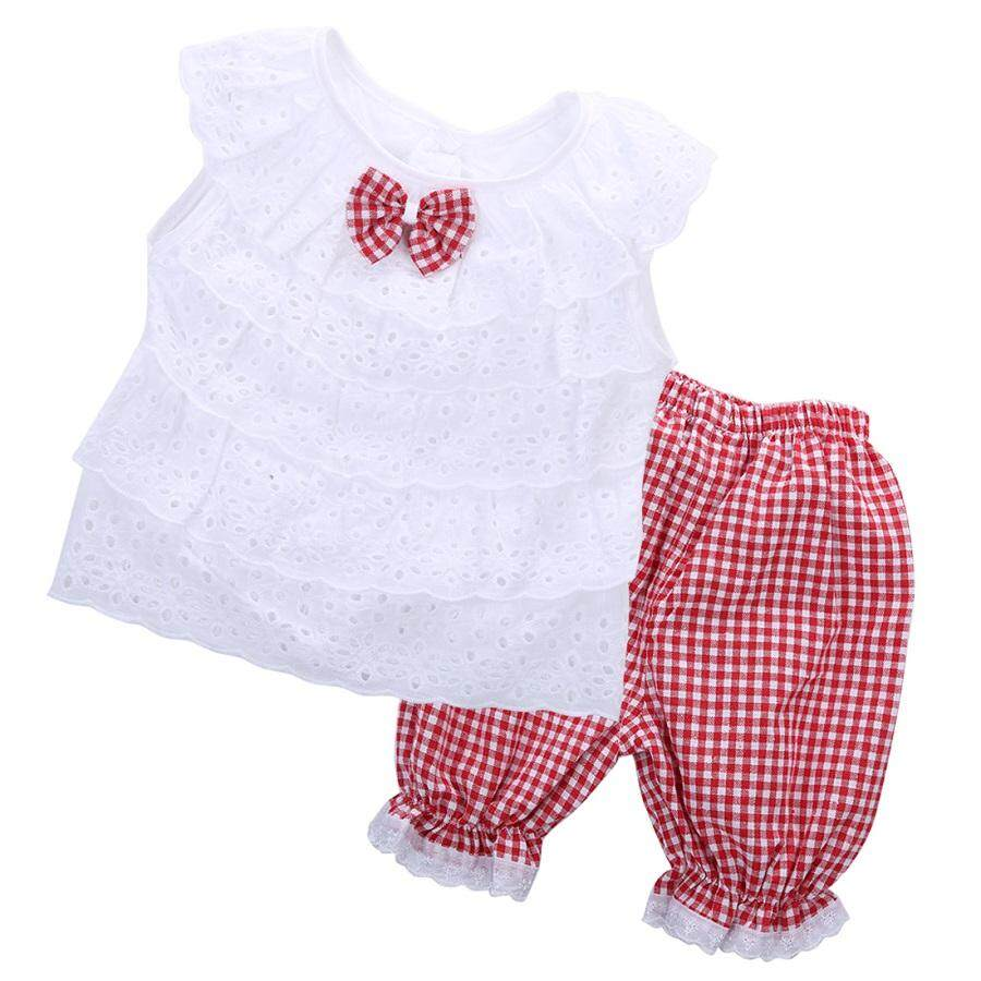 SoonYip Baby Girls Clothing Set Kids T-shirt Tops + pants 2PCS Set Outfits Clothes