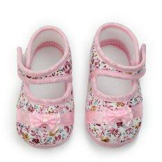 Baby Infant Girls Princess Warm Pink Bowknot Cotton Shoes Soft Bottom 9-18 Month – Intl – intl