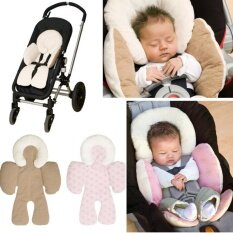 Baby Infant Safety Car Seat Stroller White Soft Cushion Pad Liner Mat Head Neck Body Support