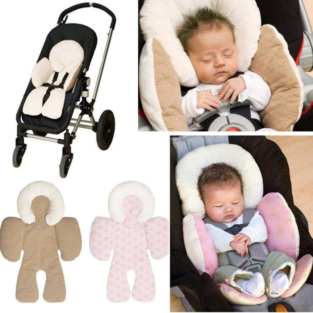 Bayi Pengaman Bayi Kursi Mobil Kereta Dorong Putih Alas Bantal Empuk Penopang Kepala Kapal Tikar Leher