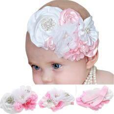 Baby Kid Girl Infant Elastic Hair Band Rose Flower Rhinestone Headband Headwear By 2015 Great Future.