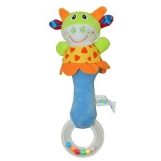 Qimiao Store Baby Kid Soft Cartoon Handbells Rattle Musical Developmental Toy 22cm Cattle By Qimiao Store.