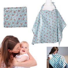 Baby Mum Breastfeeding Nursing Poncho Cover Up Cotton(blue Cherry) By Welcomehome.