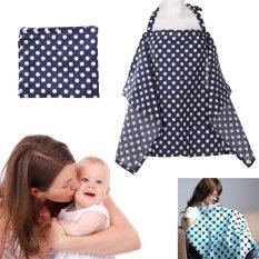 Baby Mum Breastfeeding Nursing Poncho Cover Up Cotton(dark Blue Dots) By Welcomehome.