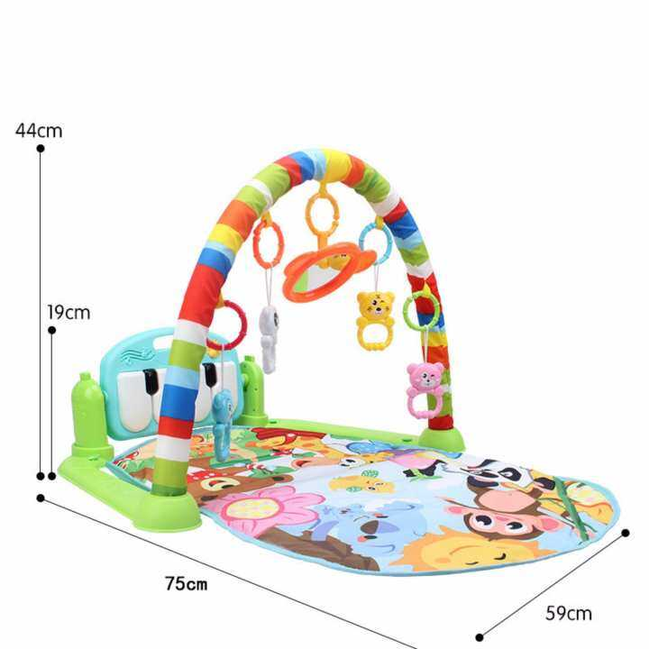 Baby Playgym Baby Playmat Baby Mat Multifunction Mat with Music & Colouful Design
