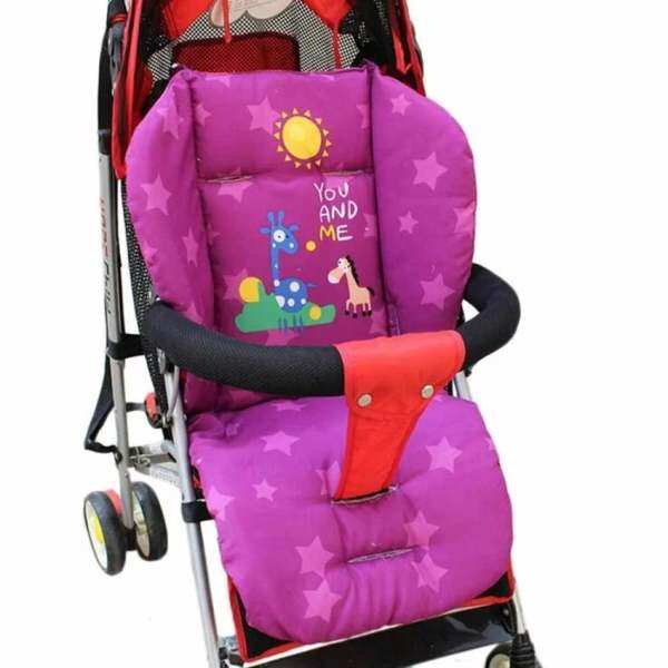 Baby Stroller Cushion Pad Pram Padding Pad Liner Waterproof Car Purple Seat Singapore