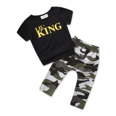 d76c6919 Baby Summer daily Clothing set Boys Clothes Cotton Short sleeve T-shirt  Camouflage Pants Trousers