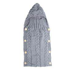 Baby Swaddle Wrap Warm Wool Knitted Swaddling Blanket Sleeping Bag(grey) By Welcomehome.